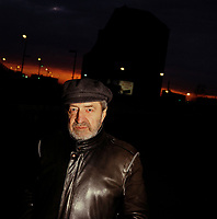 Portrait du comedien Roger Lebel<br /> en 1987 ou 1988  pour le film UN ZOO LA NUIT<br /> <br /> <br /> PHOTO :  Agence Quebec Presse