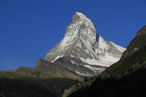 View from our room of the Matterhorn in Zermatt, Switzerland.