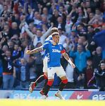 12.05.2019 Rangers v Celtic: James Tavernier celebrates his early goal for Rangers
