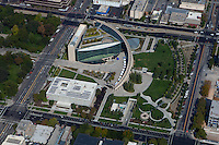 aerial photograph Salt Lake City Public Library and Leonardo Museum Salt Lake City, Utah