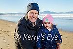 John and Emily Clifford enjoying a stroll on Banna beach on Saturday.