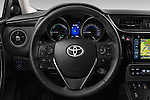 Car pictures of steering wheel view of a 2015 Toyota Auris Lounge 5 Door Hatchback Steering Wheel