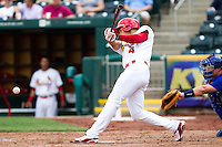 Thomas Pham (4) of the Springfield Cardinals smashes a ground ball  during a game against the Midland RockHounds on April 19, 2011 at Hammons Field in Springfield, Missouri.  Photo By David Welker/Four Seam Images