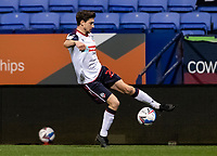 Bolton Wanderers' Shaun Miller keeps the ball in play<br /> <br /> Photographer Andrew Kearns/CameraSport<br /> <br /> EFL Papa John's Trophy - Northern Section - Group C - Bolton Wanderers v Newcastle United U21 - Tuesday 17th November 2020 - University of Bolton Stadium - Bolton<br />  <br /> World Copyright © 2020 CameraSport. All rights reserved. 43 Linden Ave. Countesthorpe. Leicester. England. LE8 5PG - Tel: +44 (0) 116 277 4147 - admin@camerasport.com - www.camerasport.com