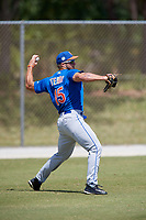 New York Mets Tim Tibow (15) during practice before a minor league Spring Training game against the Miami Marlins on March 26, 2017 at the Roger Dean Stadium Complex in Jupiter, Florida.  (Mike Janes/Four Seam Images)