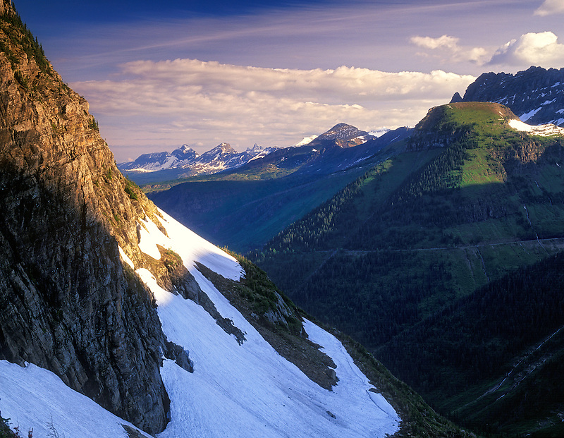 View of Glacier National Park from Logan Pass, Montana
