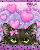 Kayomi, CUTE ANIMALS, paintings, CatInLove_M, USKH24,#AC# illustrations, pinturas ,everyday