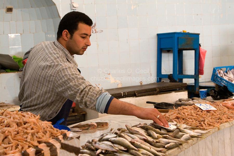 Tripoli, Libya - Fish Market, Rashid Street