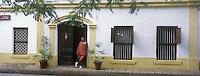 Afrique/Afrique de l'Est/Tanzanie/Zanzibar/Ile Unguja/Stone Town: Hotel Beyt al Chai et son Guerrier Massai qui garde l'entrée