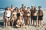 Danang, February 1988. American tourists (5 men and one woman) and Soviet tourists (7 women and a man) gathered on the beach of Danang. Among the Americans, there were five Veterans, including the woman (who is wearing a one-piece black swimsuit).