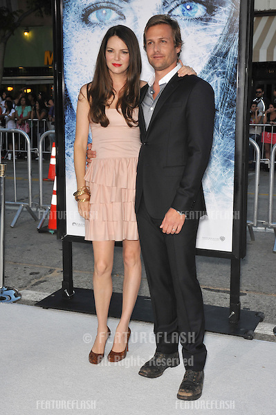 """Gabriel Macht & wife Jacinda Barrett at the Los Angeles premiere of his new movie """"Whiteout"""" at Mann Village Theatre, Westwood..September 9, 2009.September 9, 2009  Los Angeles, CA.Picture: Paul Smith / Featureflash"""