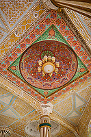 Senegal, Touba.  Stucco Decoration in Ceiling of Grand Mosque.