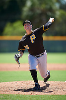 Pittsburgh Pirates pitcher Jordan Jess (80) during an Instructional League Intrasquad Black & Gold game on September 21, 2016 at Pirate City in Bradenton, Florida.  (Mike Janes/Four Seam Images)