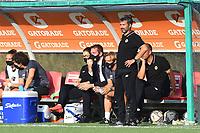 4th September 2021; Agostino di Bartolomei Stadium, Rome, Italy; Serie A womens championship football, AS Roma versus Napoli ; Roma trainer Alessandro Spugna