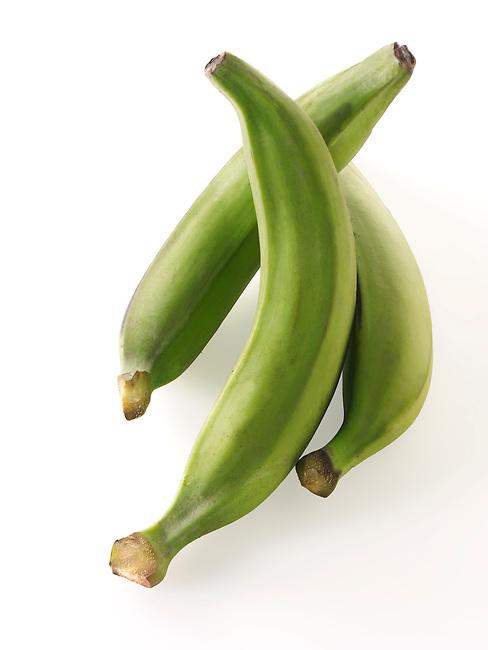 Fresh whole ripe green Plantain fruit