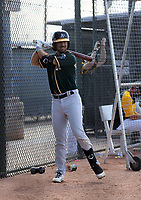 Jake Suddleson - Athletics 2021 minor league spring training (Bill Mitchell)