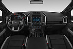 Stock photo of straight dashboard view of a 2018 Ford F-150 Raptor Select Doors Door Pick Up