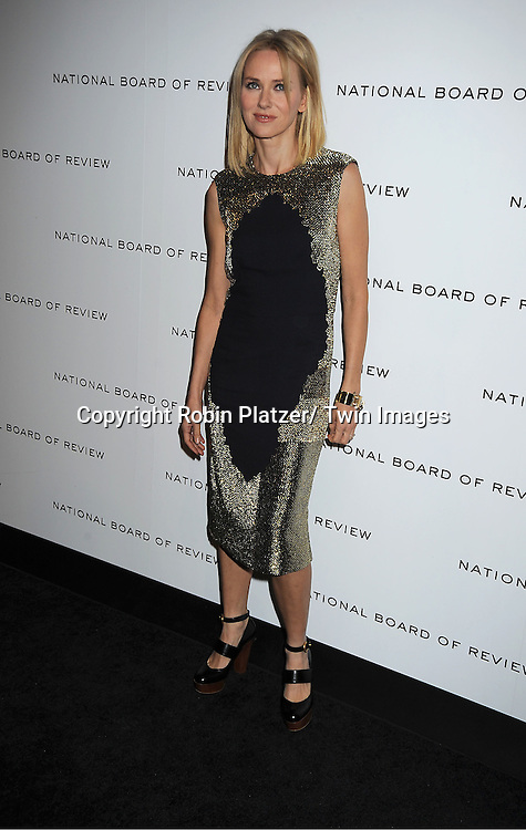 Naomi Watts in Stella McCartney attends The National Board of Review Film Awards Gala on January 10, 2012 at Cipriani 42nd Street in New York City.