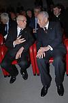 CARLO AZEGLIO CIAMPI CON GIORGIO NAPOLITANO  TEATRO ELISEO ROMA 2008