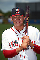 GCL Red Sox Andy Perez (24) poses for a photo after the second game of a doubleheader against the GCL Rays on August 4, 2015 at Charlotte Sports Park in Port Charlotte, Florida.  GCL Red Sox defeated the GCL Rays 2-1.  (Mike Janes/Four Seam Images)