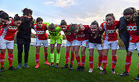 Standard's players pictured celebrating after winning a female soccer game between Standard Femina de Liege and Club Brugge YLA on the seventh matchday of the 2020 - 2021 season of Belgian Scooore Womens Super League , saturday 14 th of November 2020  in Angleur , Belgium . PHOTO SPORTPIX.BE | SPP | DAVID CATRY