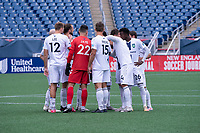 FOXBOROUGH, MA - JULY 4: Greenville Triumph SC starting eleven during a game between Greenville Triumph SC and New England Revolution II at Gillette Stadium on July 4, 2021 in Foxborough, Massachusetts.