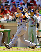 11 April 2006: Paul Lo Duca, catcher for the New York Mets, at bat against the Washington Nationals during the Nationals' Home Opener at RFK Stadium, in Washington, DC. The Mets defeated the Nationals 7-1 to maintain their early lead in the NL East...Mandatory Photo Credit: Ed Wolfstein Photo..