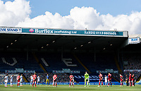 Players and officials observe a minute's silence before the game<br /> <br /> Photographer Alex Dodd/CameraSport<br /> <br /> The EFL Sky Bet Championship - Leeds United v Fulham - Wednesday 24th June 2020 - Elland Road - Leeds<br /> <br /> World Copyright © 2020 CameraSport. All rights reserved. 43 Linden Ave. Countesthorpe. Leicester. England. LE8 5PG - Tel: +44 (0) 116 277 4147 - admin@camerasport.com - www.camerasport.com<br /> <br /> Photographer Alex Dodd/CameraSport<br /> <br /> The Premier League - Newcastle United v Aston Villa - Wednesday 24th June 2020 - St James' Park - Newcastle <br /> <br /> World Copyright © 2020 CameraSport. All rights reserved. 43 Linden Ave. Countesthorpe. Leicester. England. LE8 5PG - Tel: +44 (0) 116 277 4147 - admin@camerasport.com - www.camerasport.com