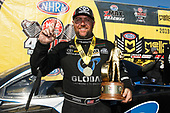 Shawn Langdon, Global Electric Technology, Toyota, Camry, Funny Car, Winner, Trophy, Celebration