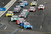 23rd August 2020, Lausitz Circuit, Klettwitz, Brandenburg, Germany. The Deutsche Tourenwagen Masters (DTM) race at Lausitz; The Start, Robin Frijns, Audi Sport Team Abt Sportsline, Audi RS5 DTM
