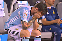 Action photo duringthe match Argentina vs Chile corresponding to the Final of America Cup Centenary 2016, at MetLife Stadium.<br /> <br /> Foto durante al partido Argentina vs Chile cprresponidente a la Final de la Copa America Centenario USA 2016 en el Estadio MetLife , en la foto:Lionel Messi<br /> <br /> 26/06/2016/MEXSPORT/ISAAC ORTIZ