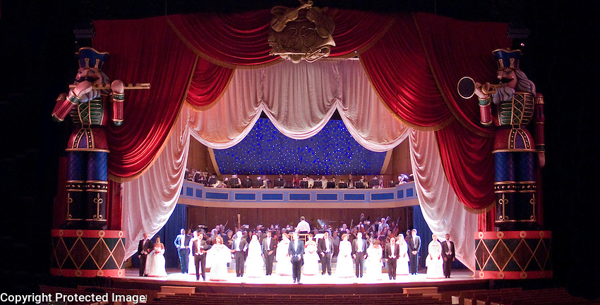 My design for the Christmas show in the BSO's Meyerhoff Music Hall. This is a production photo from the final dress<br /> .