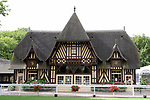 August 15, 2021, Deauville (France) -  The weighing room  in Anglo-Norman style on the  Deauville Racecourse. [Copyright (c) Sandra Scherning/Eclipse Sportswire)]