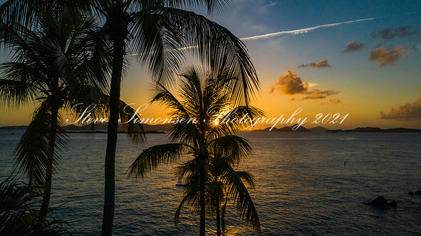 Sunset from Gallows Point<br /> Simonsen Sunset Stream<br /> St. John<br /> US Virgin Islands