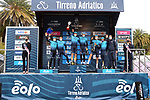 Astana-Premier Tech win the team classification of Tirreno-Adriatico Eolo 2021 after Stage 7, an individual time trial running 10.1km around San Benedetto del Tronto, Italy. 16th March 2021. <br /> Photo: LaPresse/Gian Mattia D'Alberto | Cyclefile<br /> <br /> All photos usage must carry mandatory copyright credit (© Cyclefile | LaPresse/Gian Mattia D'Alberto)