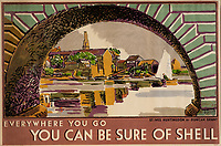 BNPS.co.uk (01202 558833)<br /> Pic: Lyon&Turnbull/BNPS<br /> <br /> Pictured: A landscape at St Ives is part of the heritage poster auction<br /> <br /> A vast collection of vintage Shell posters have sold at auction for almost £60,000.<br /> <br /> The group of 49 sheets were sold directly from the oil giant's archives and featured some incredibly rare designs from down the years.<br /> <br /> All of the posters had previously been used in Shell advertising campaigns, dating back to between the 1920s and 1950s.<br /> <br /> Many of the colourful designed featured the slogan 'You can be sure of Shell' and list people who preferred their fuel.