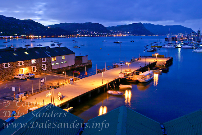 Simons Town, waterfront at dusk, near the Cape of Good Hope, South Africa