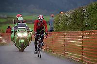 Thomas De Gendt (BEL/Lotto-Soudal) up the infamous La Redoute (1650m/9.7%) climb at 36 kilometers from the finish<br /> <br /> 102nd Liège-Bastogne-Liège 2016