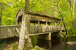 Devil's Hopyard State Park, East Haddam, CT. Covered Bridge over Eight Mile River.