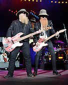 WEST PALM BEACH, FL - MAY 8: Dusty Hill and Billy Gibbons of ZZ Top perform at The Coral Sky Amphitheater on May 8, 2015 in West Palm Beach Florida. Credit Larry Marano © 2015