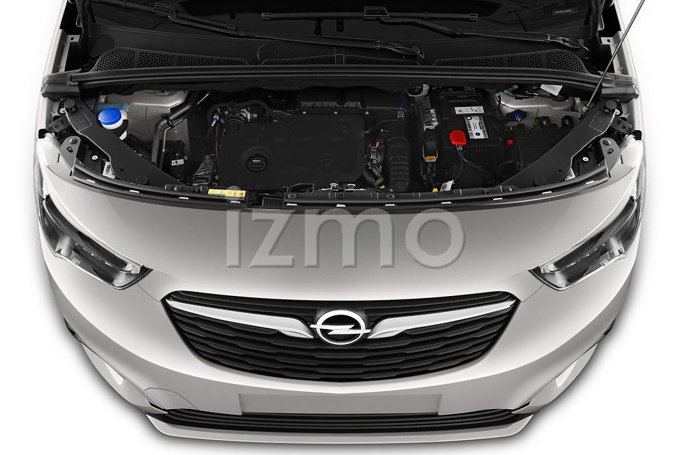 Car Stock 2021 Opel Combo-Life XL-Edition 5 Door Minivan Engine  high angle detail view