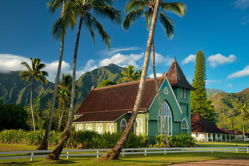 "Wai`oli Hui`ia Church<br /> ""I ka poli o Hanalei - in the Heart of Hanalei, Kauai, Hawaii"