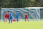 Nishan Burkart (Nr.19, SC Freiburg) erzielt das Tor beim Spiel, FC Astoria Walldorf - SC Freiburg II.<br /> <br /> Foto © PIX-Sportfotos *** Foto ist honorarpflichtig! *** Auf Anfrage in hoeherer Qualitaet/Aufloesung. Belegexemplar erbeten. Veroeffentlichung ausschliesslich fuer journalistisch-publizistische Zwecke. For editorial use only. DFL regulations prohibit any use of photographs as image sequences and/or quasi-video.