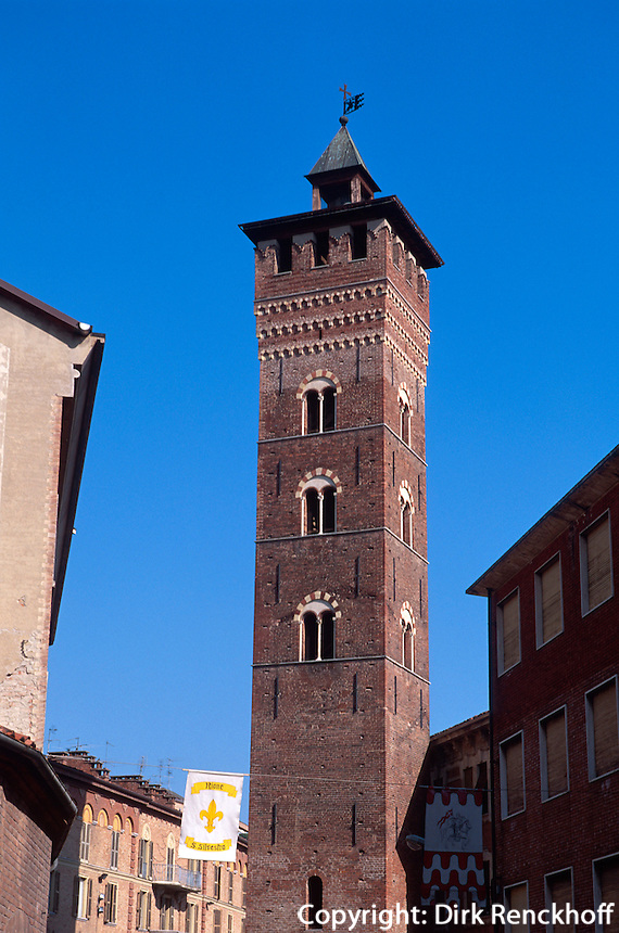 Italien, Piemont, Geschlechterturm Troyana in Asti