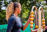 Hilversum, Netherlands, August 5, 2021, Tulip Tennis center, National Junior Tennis Championships 16 and 18 years, NJK, Girls Doubles 18 years,  Bente Bierma (NED) <br /> Photo: Tennisimages/Henk Koster