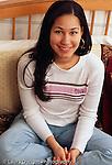 Teenage girl 15 years old  portrait, closeup sitting vertical
