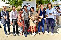 Paul Belmondo, David Lisnard, Delphine Gleize, Eric Lartigau, Hafsia Herzi et Karine Silla, tournoi de pétanque des personnalités, pendant le soixante-dixième (70ème) Festival du Film à Cannes, Allées de la Liberté, Cannes, Sud de la France, samedi 27 mai 2017. Philippe FARJON / VISUAL Press Agency
