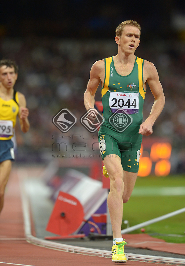 Brad Scott (AUS) Bronze in the Men's 800m - T37 Final<br /> Athletics (Saturday 1st Sept) - Olympic Stadium<br /> Paralympics - Summer / London 2012 <br /> London, England 29 Aug - 9 Sept<br /> © Sport the library/Courtney Crow