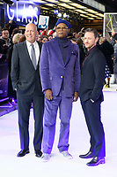 "Bruce Willis, Samuel L.Jackson and James McAvoy<br /> arriving for the ""Glass"" premiere at the Curzon Mayfair, London<br /> <br /> ©Ash Knotek  D3470  09/01/2019"