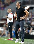 FC Barcelona's coach Luis Enrique Martinez (r) and Sevilla FC's coach Jorge Sampaoli during Supercup of Spain 2nd match.August 17,2016. (ALTERPHOTOS/Acero)